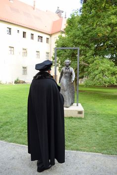 Luther smiled from ear to ear when he saw the statue of his beloved wife, Katie, in front of their former home in Lutherstadt Wittenberg. She looks as beautiful as he remembers her. Don't you think so? #LutherCountry