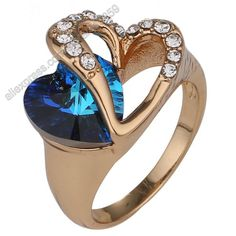 Claire Jin Blue Heart of the Sea Ring for Women, from clairejin.aliexpress.com