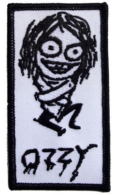 Official Ozzy Osbourne Iron-on patch measuring approx 50mm x 95mm featuring the Ozzy Stright Jacket design USA IMPORT Live Nation C D Visionary Inc