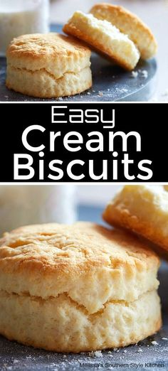 Easy Cream Biscuits - Good to eat - Homemade Bread Best Homemade Bread Recipe, Homemade Biscuits, Biscuit Bread, Biscuit Recipe, Bread Pizza, Bread Recipes, Cooking Recipes, Buttermilk Recipes, Bisquick Recipes