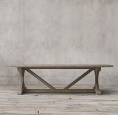 Dining Room. Salvaged Wood X-Base Rectangular Extension Dining Table $2,321 member price in 72""