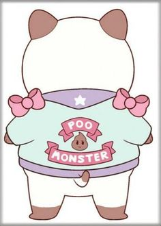 Bee and PuppyCat Poo Monster Magnet
