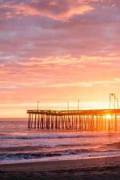 Beautiful sunset over Virginia Beach  / via Travel Mindset - win a trip here https://www.facebook.com/VirginiaBeachVA/app_451684954848385