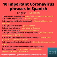 10 coronavirus phrases in Spanish