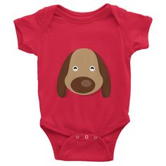 Puppy Infant short sleeve one-piece 100% cotton