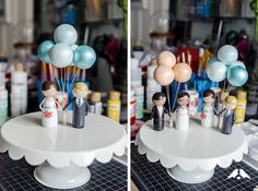 #DIYTutorial: Learn how to make mini hand-holding peg people for your wedding cake topper! | Images & Tutorial by Ribbons&Bluebirds