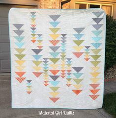 "I love the fun mix of little geese and big geese in this ""Heading South"" quilt by Amanda Castor of Material Girl Quilts."