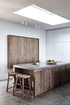 Greece Cyclades Syros interiors architecture by Block722 via Yatzer wood concrete minimalist modern kitchen