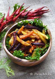 Oven fried veggie sticks...Mmm..