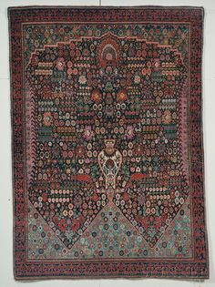 "Qashqai ""Millefleurs"" Rug, Southwest Persia, early 20th century"