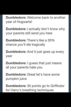 Dumbledore and the house cup