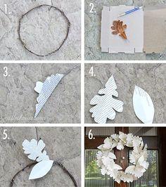 DIY: book page wreath