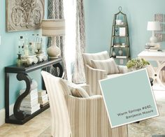 Wall Color: Warm Springs 682 by Benjamin Moore August-September 2012 Paint Colors | How To Decorate