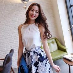 Buy 'midnightCOCO – Sleeveless Cut-Away Front Top' with Free International Shipping at YesStyle.com. Browse and shop for thousands of Asian fashion items from South Korea and more!