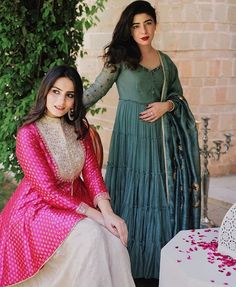 Beautiful Long Dresses with modern silhouettes and traditional embellishments. Indian Bridal Fashion, Indian Wedding Outfits, Indian Outfits, Anarkali Dress, Pakistani Dresses, Indian Dresses, Indian Designer Outfits, Designer Dresses, India Fashion
