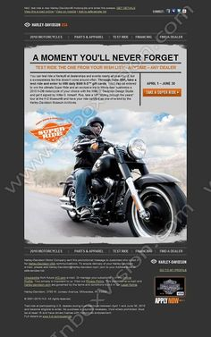 I will ride a Harley before I die!  Company:  Harley-Davidson Subject:  Test ride a Harley and enter to win the Super Ride Sweepstakes.              INBOXVISION providing email design ideas and email marketing intelligence.    www.inboxvision.com/blog/  #EmailMarketing #DigitalMarketing #EmailDesign #EmailTemplate #InboxVision  #SocialMedia #EmailNewsletters