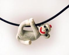 monkey pendant...love wearing jewelry that gets the children's attention...helpful to draw out a shy child too! :)