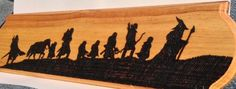 """""""The Fellowship of The Ring"""" Wood Burning - Chainge Arts"""