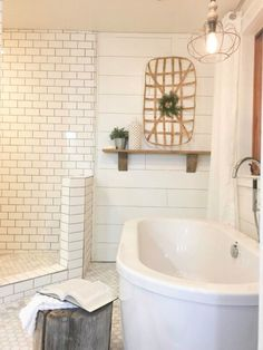 50 Best Farmhouse Bathroom Tile Remodel Ideas Shiplap