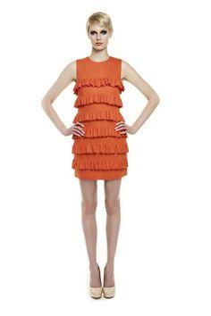 Erin Fetherston Spring Summer 2012 RTW: flapper+ orange.