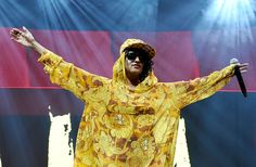 M.I.A. wearing a gold anorak #prints #music