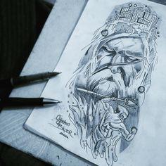 Poseidon tattoo design #poseidon #poseidontattoo #poseidondrawing #tattooartist #oğuzhanserhatbiçer by osbtattoo #masiva http://masiva.org