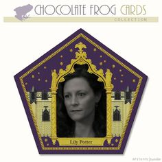 CHOCOLATE FROG CARDS, LILY EVANS POTTER