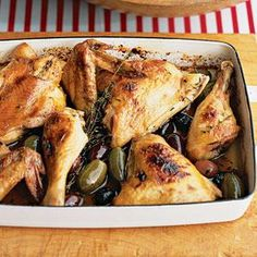 Lemon-Honey Chicken With Olives Recipe | MyRecipes.com