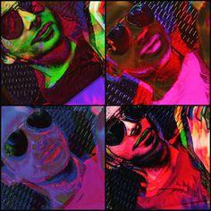 Self Portrait - Warhol Inspired, completly free style Pop Art.