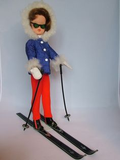 vinyl Sindy doll wearing Winter Holiday fashion with real sheepskin fur trim, United Kingdom, by Pedigree Toys. Sindy Doll, Vintage Barbie Dolls, Childhood Toys, Childhood Memories, Growing Up Girl, Tammy Doll, Skate Girl, Holiday Fashion, Simple Dresses