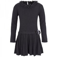 Mayoral Charcoal Pleated Dress at alexandalexa.com