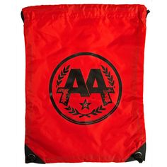 Asking Alexandria Circle Logo red gym ba#g, drawstring bag, band merch... ($16) ❤ liked on Polyvore I WANT THIS NOWWW