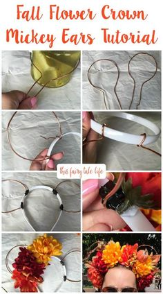A cute mouse ears tutorial for fall! Perfect for wearing around the Disney Parks! Disney Diy, Diy Disney Ears, Disney Mickey Ears, Disney Crafts, Minnie Mouse, Mickey Ears Diy, Disney Bows, Disney 2017, Disney Parks