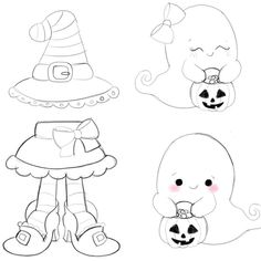 Halloween cutters and sketches are in the shoppe now! So exited. Decorated cookie pics will be available next week. Moldes Halloween, Halloween Templates, Adornos Halloween, Halloween Doodle, Halloween Themes, Halloween Crafts, Cute Halloween Drawings, Fall Coloring Pages, Halloween Coloring Pages