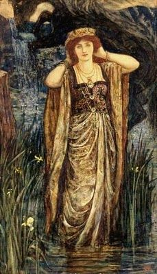 """Avalon Camelot King Arthur:  """"#Guinevere,"""" by H J Ford."""