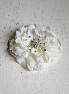 Wedding Hair Piece Bridal Hair Clip Wedding by Mikiye Creations