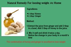 Natural remedy for Loosing Weight At Home