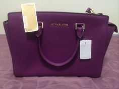 Michael Kors Pomegranate Selma (Large) Saffiano Leather #MichaelKors #Satchel