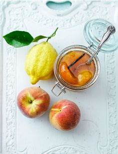 """Peach and Vanilla Jam (recipe) - """"Keeping the fruit chunky gives you bites of peach in each spoonful. If you prefer smooth jam, mash the peaches after softening."""""""
