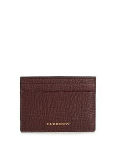 BURBERRY Sandon Grained-Leather Cardholder. #burberry #cardholder
