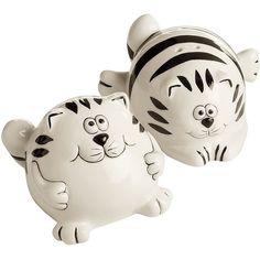 Chubby Cat Salt & Pepper Shakers