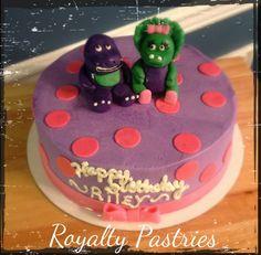 Barney and Baby Bop birthday cake