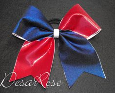 Cheer Bow Texas Size Red White & Blue by desarosebowtique on Etsy, $13.99