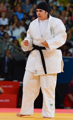 A Saudi Woman's Historic Judo Match, In Pictures Wojdan Shaherkhani didn't win her judo match today against Puerto Rico's Melissa Mojica. But she still made history as the first woman to compete in the Olympics for Saudi Arabia. Below, a rundown of her brief but boundary-breaking fight.