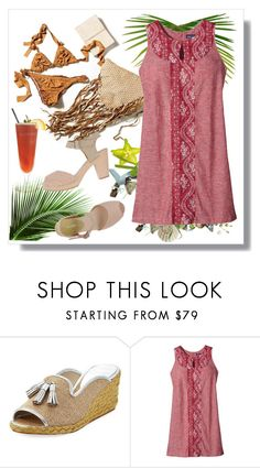 """""""Get Away"""" by adduncan ❤ liked on Polyvore featuring Donald J Pliner, TIKI, Patagonia and Rosamunda"""