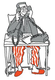 Working at home by Bob Gill - http://www.bobgilletc.com/