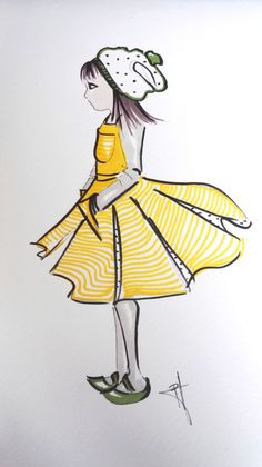 fashion kids illustration at www.milamal.sk
