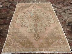 Antique Oushak Rug, 96'' x 55'', Medallion design rug, Antique rug, Muted color…