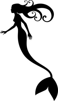 mermaids - shadow puppet silhouette Art For Wall! Stencils, Flora Und Fauna, Silhouette Images, Shadow Silhouette, Shadow Puppets, Stencil Patterns, Mermaid Art, Mermaid Outline, Fantasy