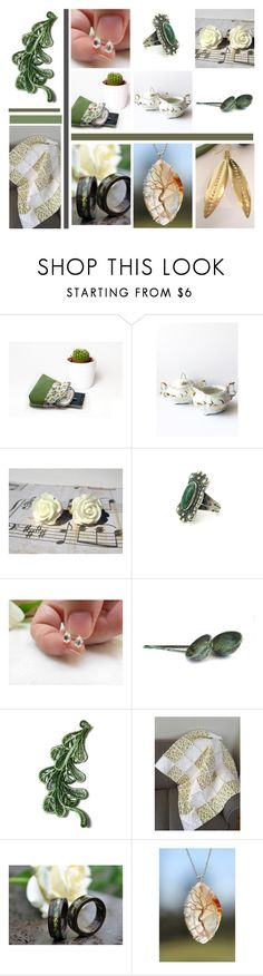 """""""Green Goods"""" by inspiredbyten ❤ liked on Polyvore featuring Wood Wood and vintage"""